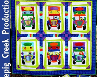 PDF- Monster Truckers Quilt Sewing Pattern