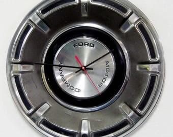 Maverick Wall Clock - 1970 1971 1972 Ford Hubcap - Hub Cap Decor