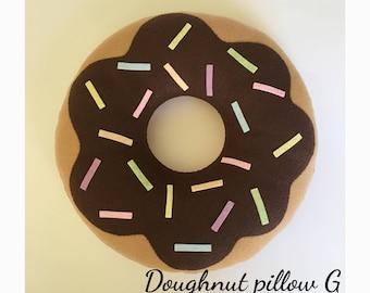 Etsy Felt Doughnut pillow plush -cute kawaii food cushion G