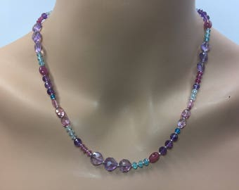 Multigemstone Necklace in Sterling Silver