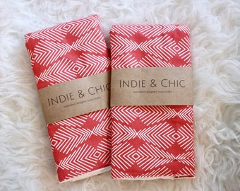 Oversized Burp Cloth - Geometric Pattern   Boho Baby   Indie Baby