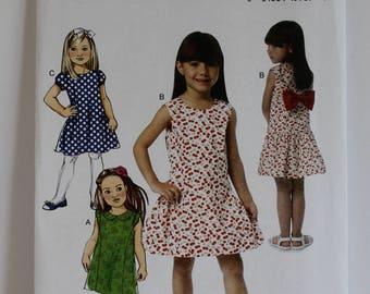 Toddler And Little Girls Dresses Butterick 6162