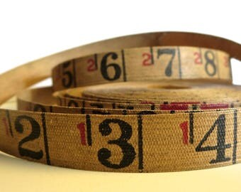 Vintage linen tape measure 2 yards of measuring tape Measurement tape Tape measure Two yards Vintage linen tape Rustic measuring tape MT
