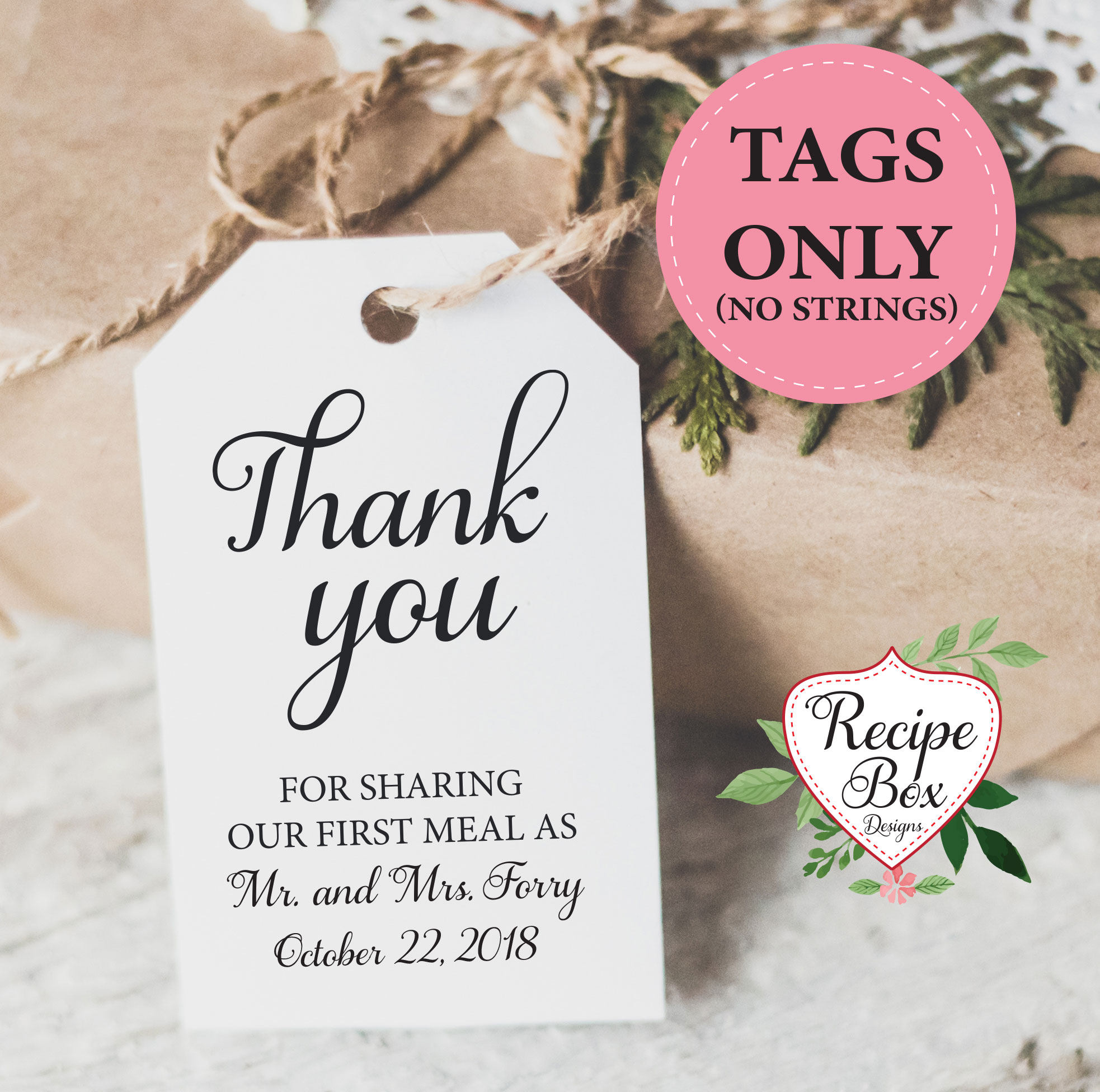 thank you wedding favor tags custom tags thank you for