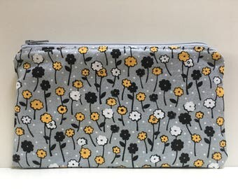 Snack Bag, Reusable Snack Bag,  Zipper Bag,  Essential Oil Bag, Boy Snack Bag, Girl Snack Bag, Floral