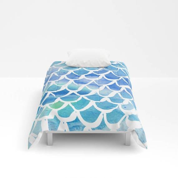 Blue Mermaid Comforter - Twin XL Comforter - Queen Comforter - King Comforter - Full Comforter - Twin Comforter Twin XL Bedding Bedspread