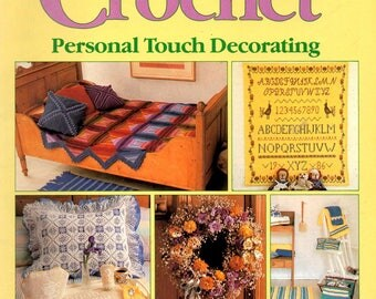 Country Crochet Personal Touch Decorating Pansies Pillows Afghans Project Basket Rugs Placemats Craft Pattern Magazine 4