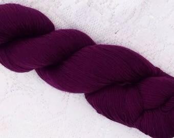 DESTASH - Cascade Heritage Sock Yarn - Dark Plum