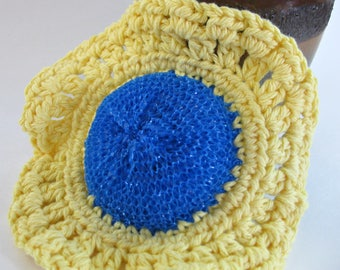 Crochet Dish Scrubbie, Pot Scrubber, Eco-Friendly Scrubbie, Dish Cloth, Kitchen Scrubber,Cotton Scrubbie, Reusable, Cleaning