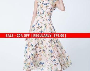 butterfly dress, prom dress, party dress, wedding dress, maxi dress, chiffon dress, cap sleeves dress, summer dress, fit and flare dress1713