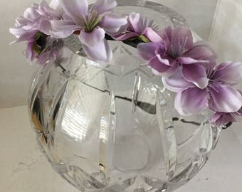 ON SALE Lavender Flower Crown, Flower Wreath, Hair Accessory, Circlet, Wedding, Fairy Crown, Bridal Party, Fairy Costume, headband