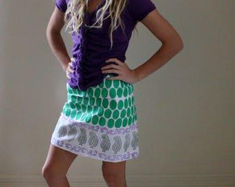 Hand Block Printed Bohemian and FAIR TRADE Skirt