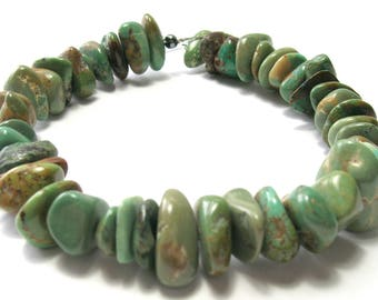 Green Turquoise Nugget Beads (11-17mm) - Gemstone Beads - Natural/Untreated (A)