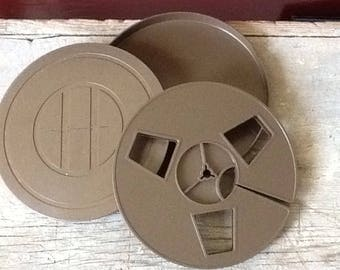 vintage plastic film case and reel