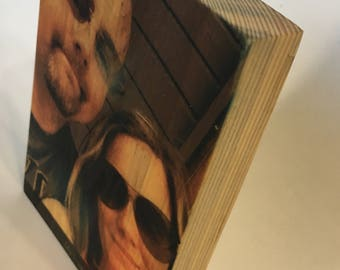 Photo On Wood Image Transfer Instagram Photo Gift on Reclaimed Wood Personalized Gift Photo Transfer 3.5 x 5 Inches