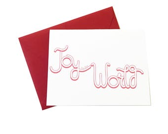 Joy to the World, Nondenominational Holiday Card, Happy Holidays, Generic Holiday Card, Everyone Holiday Card, Inclusive Holidays, Unique