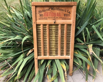 Vintage Top Notch No 801 Made By National Washboard Co Made in USA Memphis Chicago Washboard 1940s