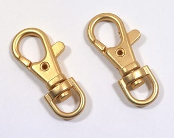 38mm Swivel Lobster Clasps - Matte Gold - Choose Your Quantity