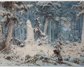 Woods on a Snowy Evening Perfume Oil - Fresh Fallen Snow, Melting Ice, Hemlock, Juniper, Cedar - ULTIME