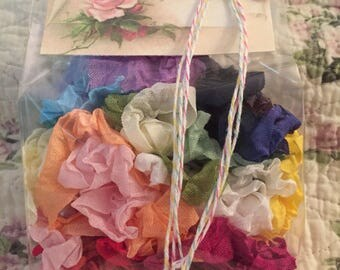 Crinkled SeamBinding French inspired 24 Yards(72 Feet)Sample Pack 1 Yard Each Color~24 Pretty Colors