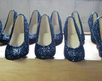 Glitter Ceramic High Heel Shoes