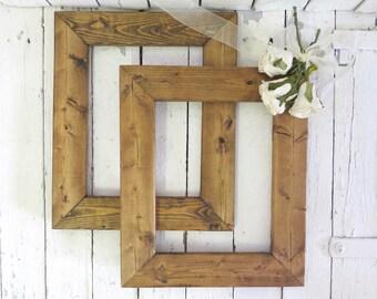 Rustic Cottage Frames, Vintage Frames, Primitive Frames, Natural Wood Frames, Farmhouse Frames, 8.5x11 Frames, Old Frames, Open Frames