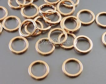 8 pcs rose gold simple 8mm open circles, infinity charms, circle geometric charm pendants 997-BRG-8