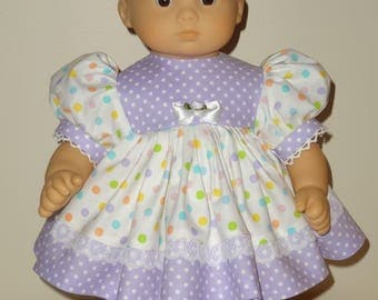Dress and Headband for 15 inch Bitty Baby Doll