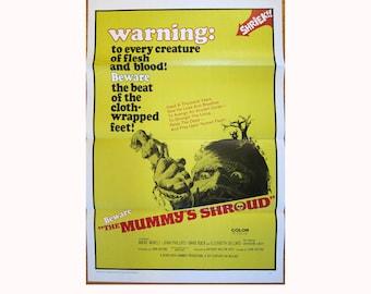 vintage original 1967 film poster THE MUMMY'S SHROUD horror movie