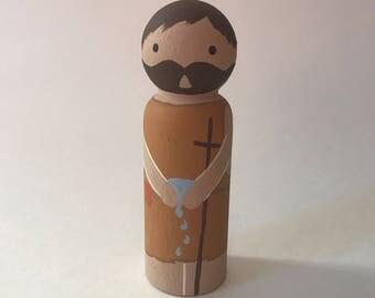 John the Baptist - Wooden Peg Doll