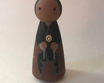 St. Josephine Bahkita - Wooden Peg Doll