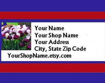 30 PERSONALIZED Return Address Labels. 1 Sheet of White 1-Inch Labels. Color Picture. 5312
