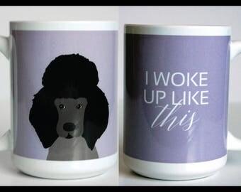 Poodle Dog 15 oz Mug, Funny Mug, Dog Coffee Mug, Cute Mug, 2 sided Mug