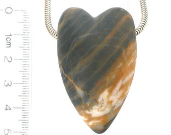 DVH River Rock Heart Focal Bead 50x31x21 (9027)