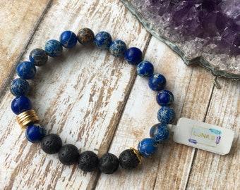 Blue Jasper Essential Oil Diffuser Bracelet