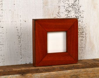 3x3 Picture Frame in 1.5 Standard Style with Vintage Wood Tone Finish - IN STOCK - Same Day Shipping - 3 x 3 Square Photo Frame