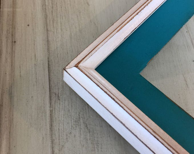"""Vintage Color of Your Choice in Vintage White Build Up Style - Choose your medium frame size 8x8, 7x9, 8x10, 9x9, 8x12, 8.5x11, A4 8.3x11.7"""""""