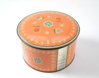 Vintage Dusting Powder Tin • Richard Hudnut Gemey Peach