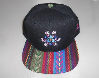Snapback Flat-Brim Hat - Tourmaline (One-of-a-kind)