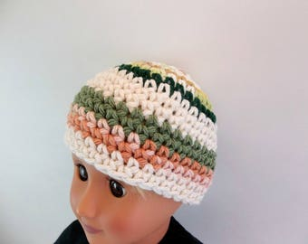 18 inch Boy Doll  Crochet Hat Striped Cotton Beanie Accessories Toys