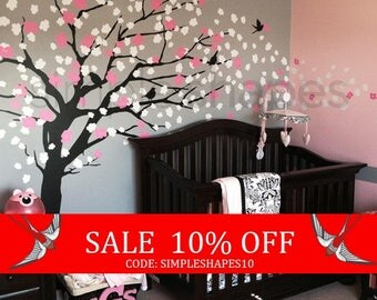 Summer Sale - Wall Decals - Cherry Blossom Tree - Elegant Style - LARGE Wall Decal
