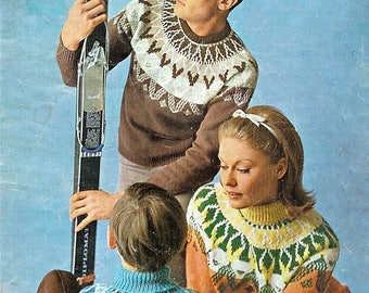 Ski sweater pattern | Etsy