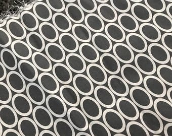 last call Ovals from Remix by Ann Kelle and Robert Kaufman, Ovals in Grey 1/2 yd total