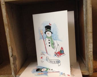 "Note Cards - ""Let There Be Snow!"""