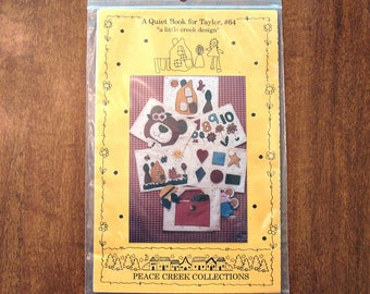 Quiet Book Sewing Pattern, A Quiet Book for Taylor #64, Peace Creek Collections