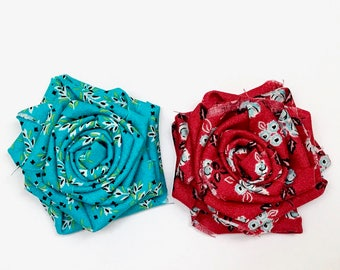 Velcro Fabric Flower Country Chic