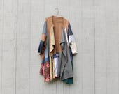 Upcycled Jacket, Recycled T-shirt, Reclaimed Clothing, Music, Funky, OOAK, One Size, Wearable Art, Artsy, Statement Piece, Boho, Gypsy