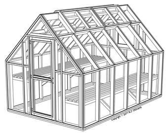 8' x 12' Greenhouse Plans - Printed Version