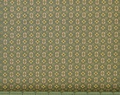 Tan Floral on Green 100% Cotton Quilt Fabric for Sale, Kim Diehl's Katie's Cupboard Collection for Henry Glass Fabrics, HEG6677-66
