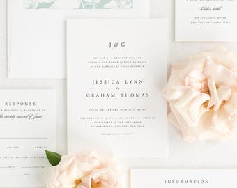 Jessica Wedding Invitation - Deposit